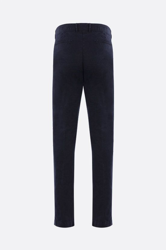 MASSIMO ALBA: Winch cotton linen blend pants Color Blue_2