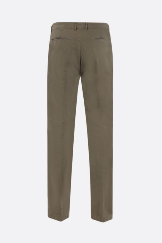 MASSIMO ALBA: Winch cotton linen blend pants Color Green_2