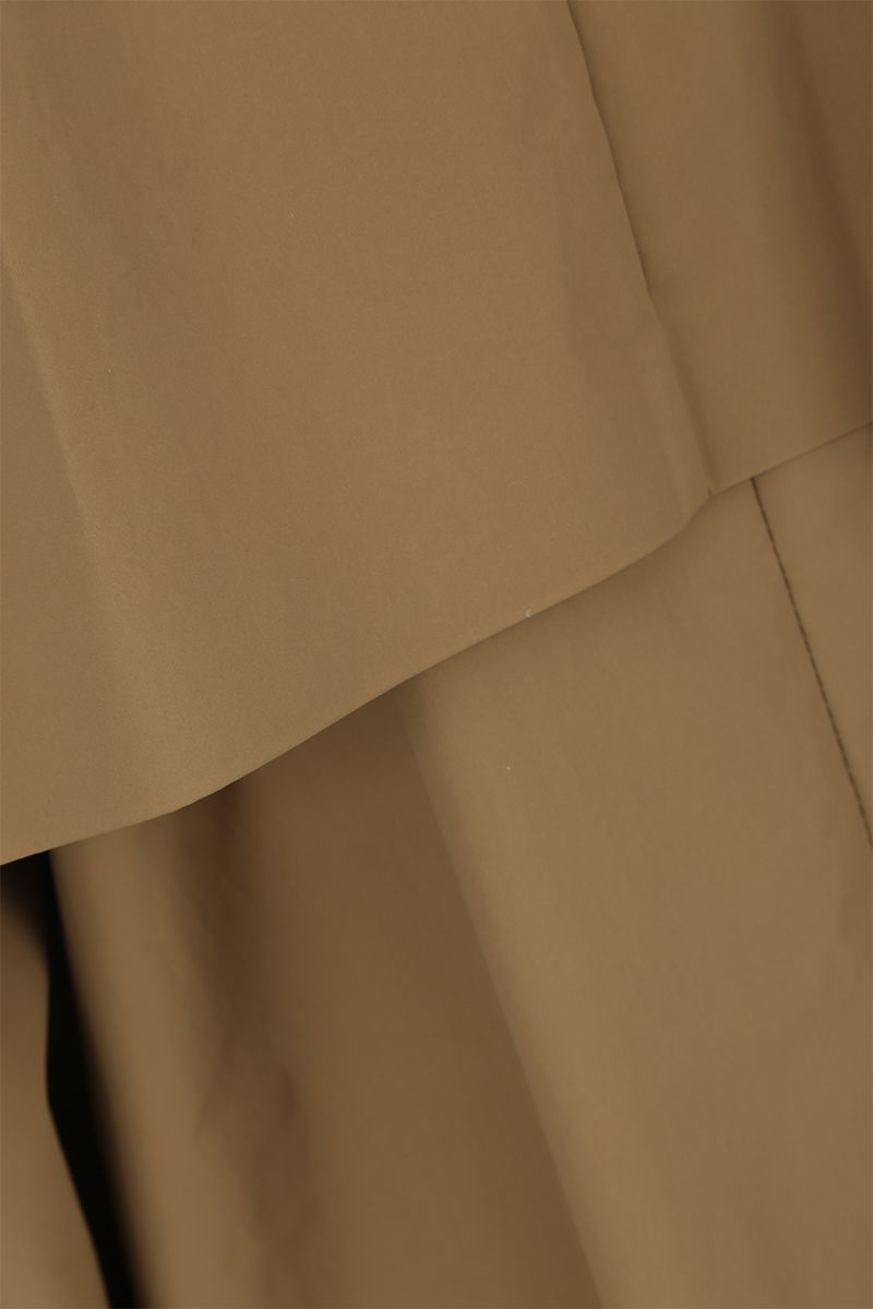 KASSL EDITIONS: coated canvas single-breasted trench coat Color Neutral_4