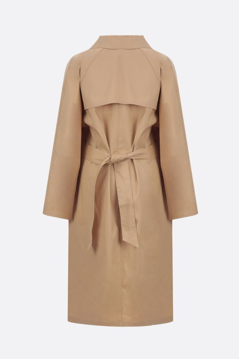 KASSL EDITIONS: cotton blend single-breasted trench coat Color Neutral_2