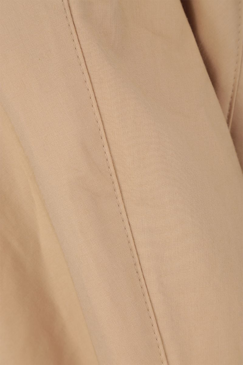 KASSL EDITIONS: cotton blend single-breasted trench coat Color Neutral_4