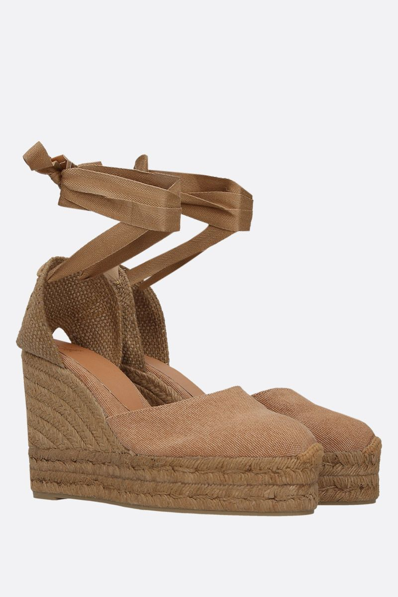 CASTANER: Carina wedge espadrilles in canvas and jute Color Brown_2