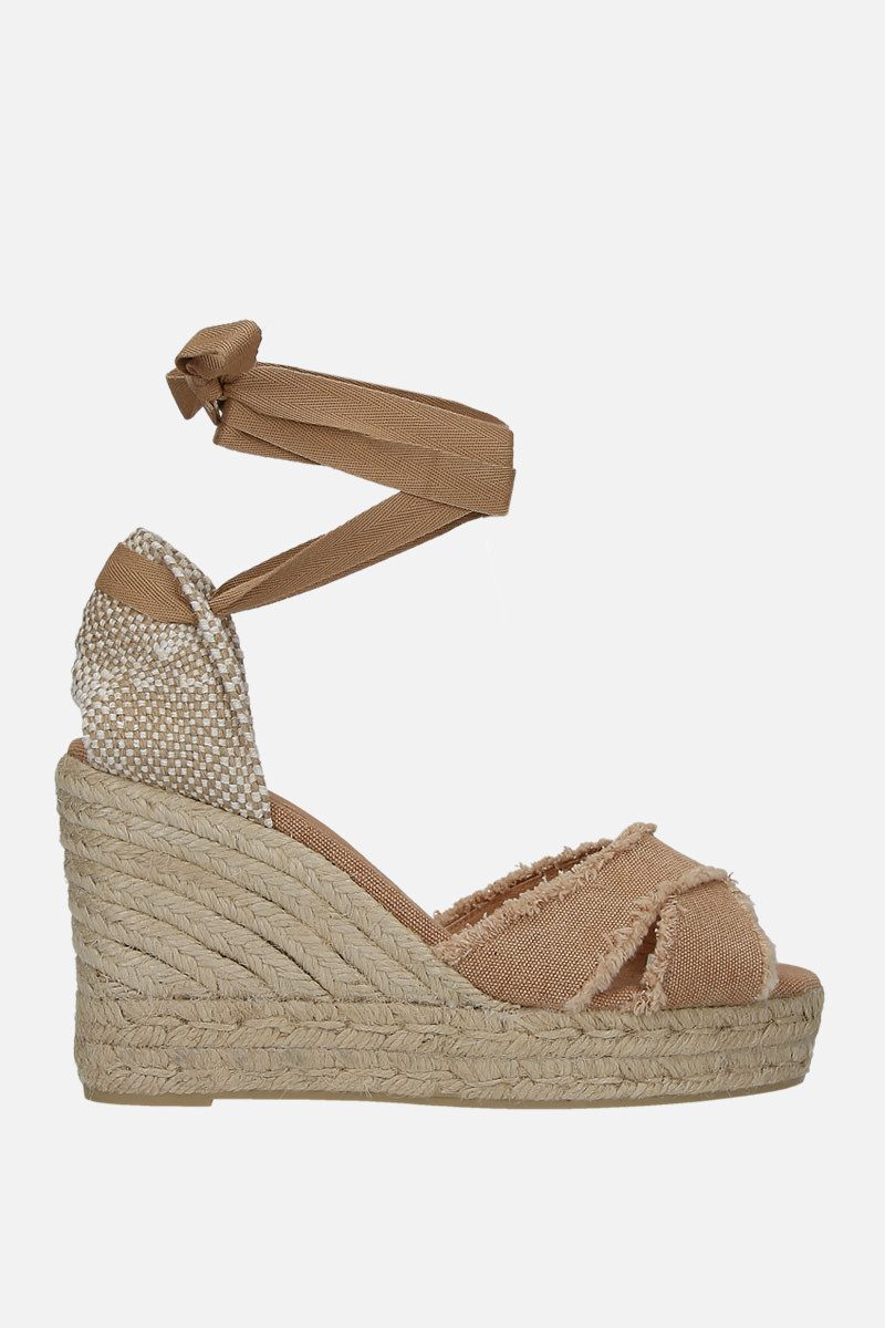 CASTANER: sandalo espadrilla Bluma in canvas e juta Colore Marrone_1