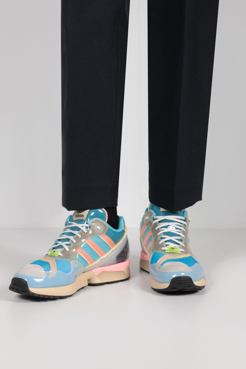 ADIDAS STATEMENT: XZ 0006 Inside Out sneakers in mesh and TPU Color Red_2