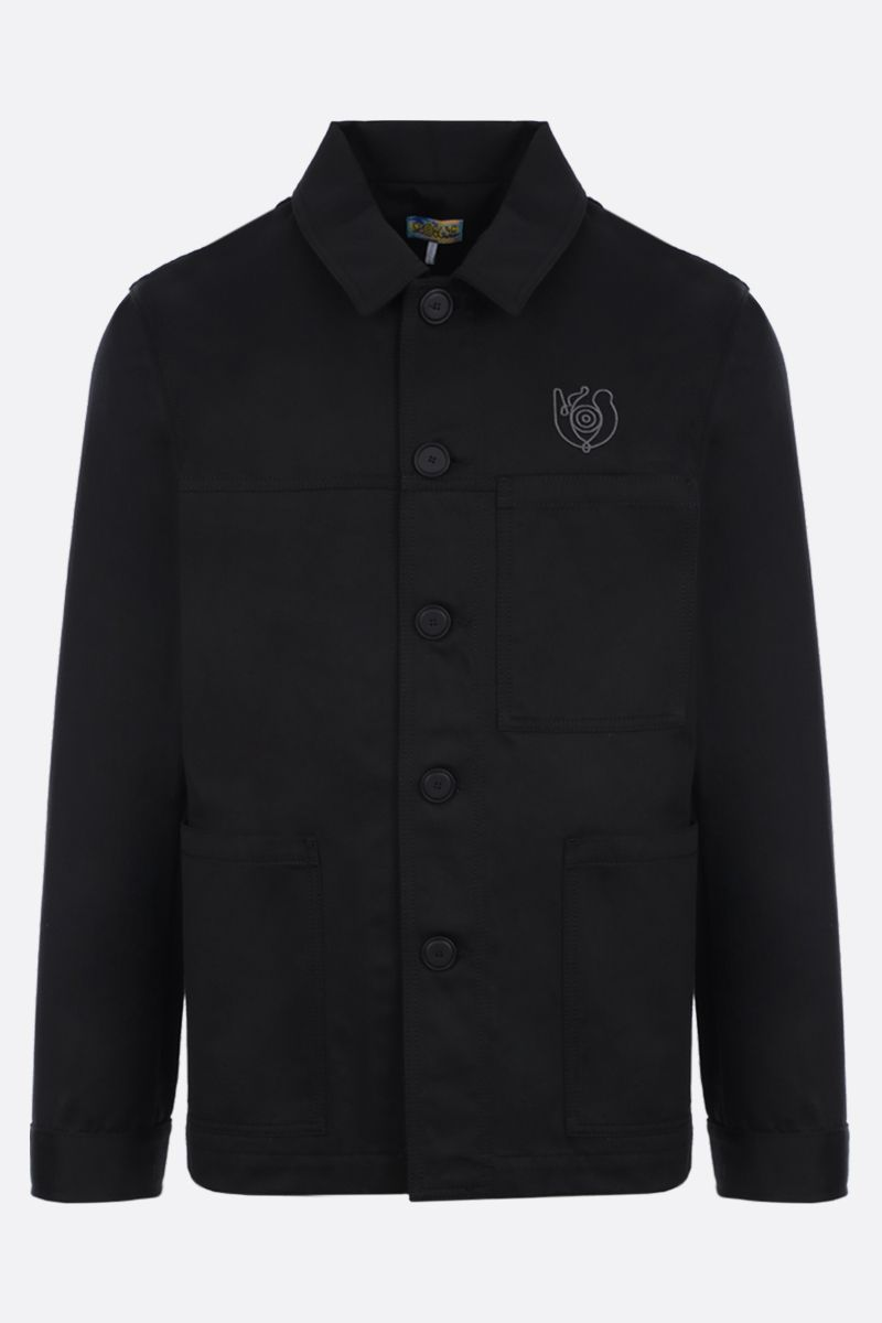 Eye/LOEWE/Nature: Eye/Loewe/Nature embroidered cotton overshirt Color Black_1