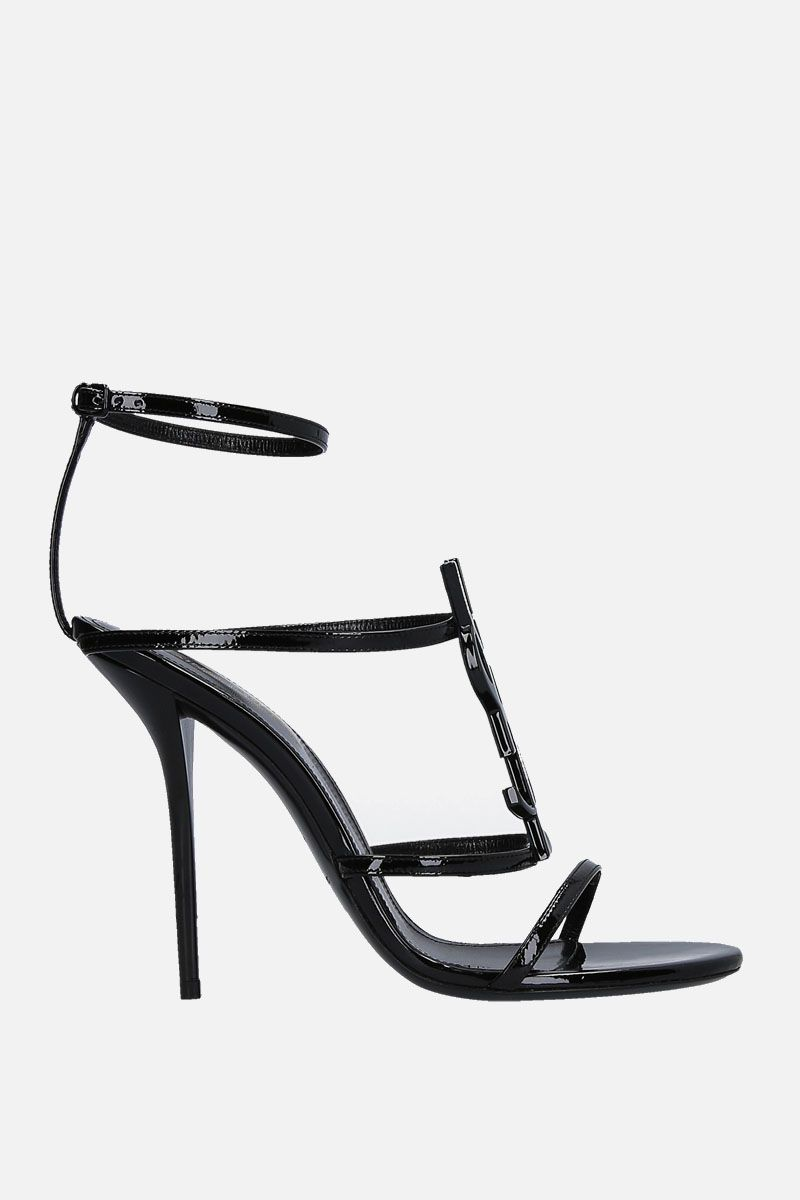 SAINT LAURENT: Cassandra sandals in patent leather Color Black_1