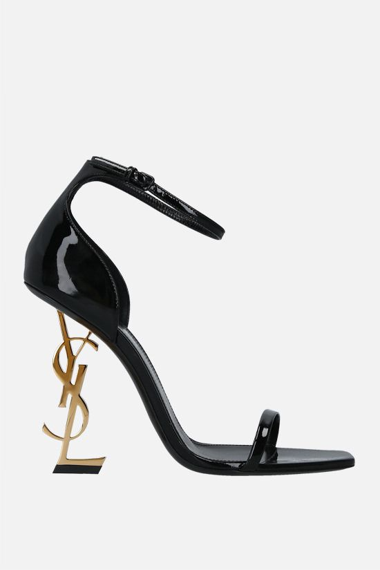 SAINT LAURENT: Opyum patent leather sandals Color Black_1