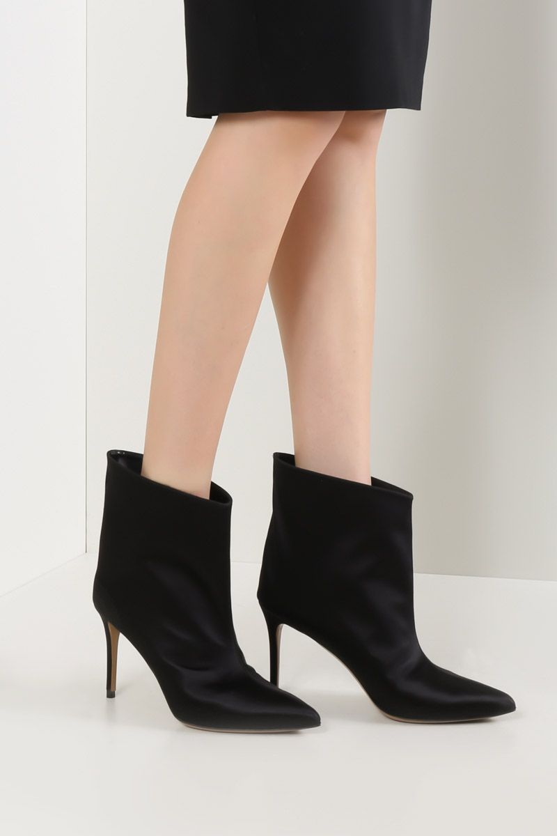 ALEXANDRE VAUTHIER: Alexlows satin booties Color Black_2