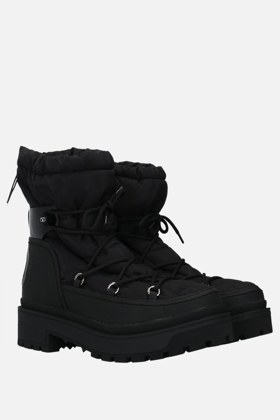 VALENTINO GARAVANI: VLOGO nylon and rubberized leather hiking boots Color Black_2