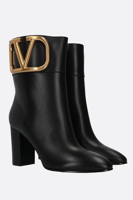 VALENTINO GARAVANI: Supervee smooth leather ankle boots Color Black_2