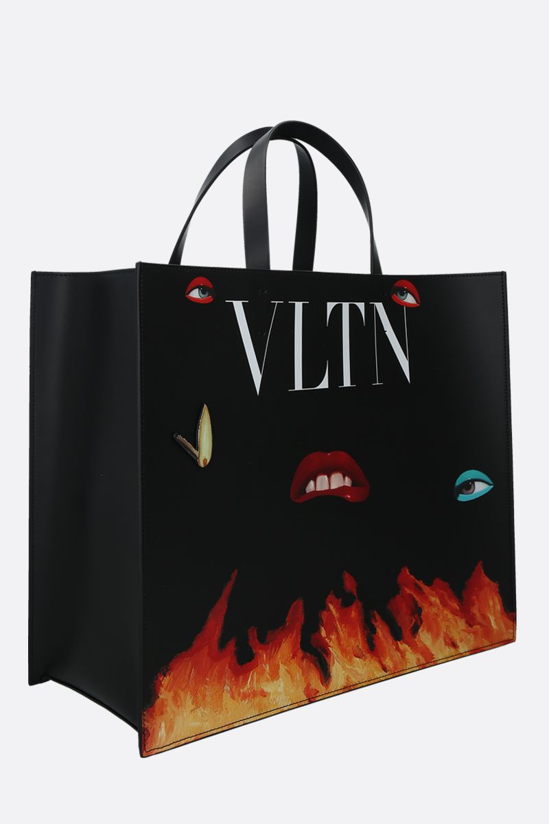 VALENTINO GARAVANI: VLTN smooth leather handbag Color Multicolor_2