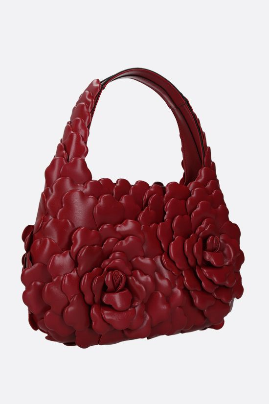 VALENTINO GARAVANI: Atelier Bag 03 Rose Edition small smooth leather hobo bag Color Red_2