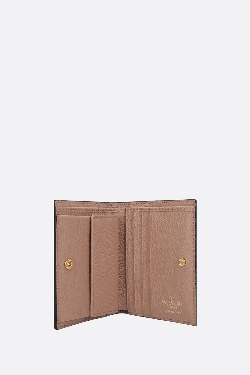 VALENTINO GARAVANI: VLOGO grainy leather french wallet_2