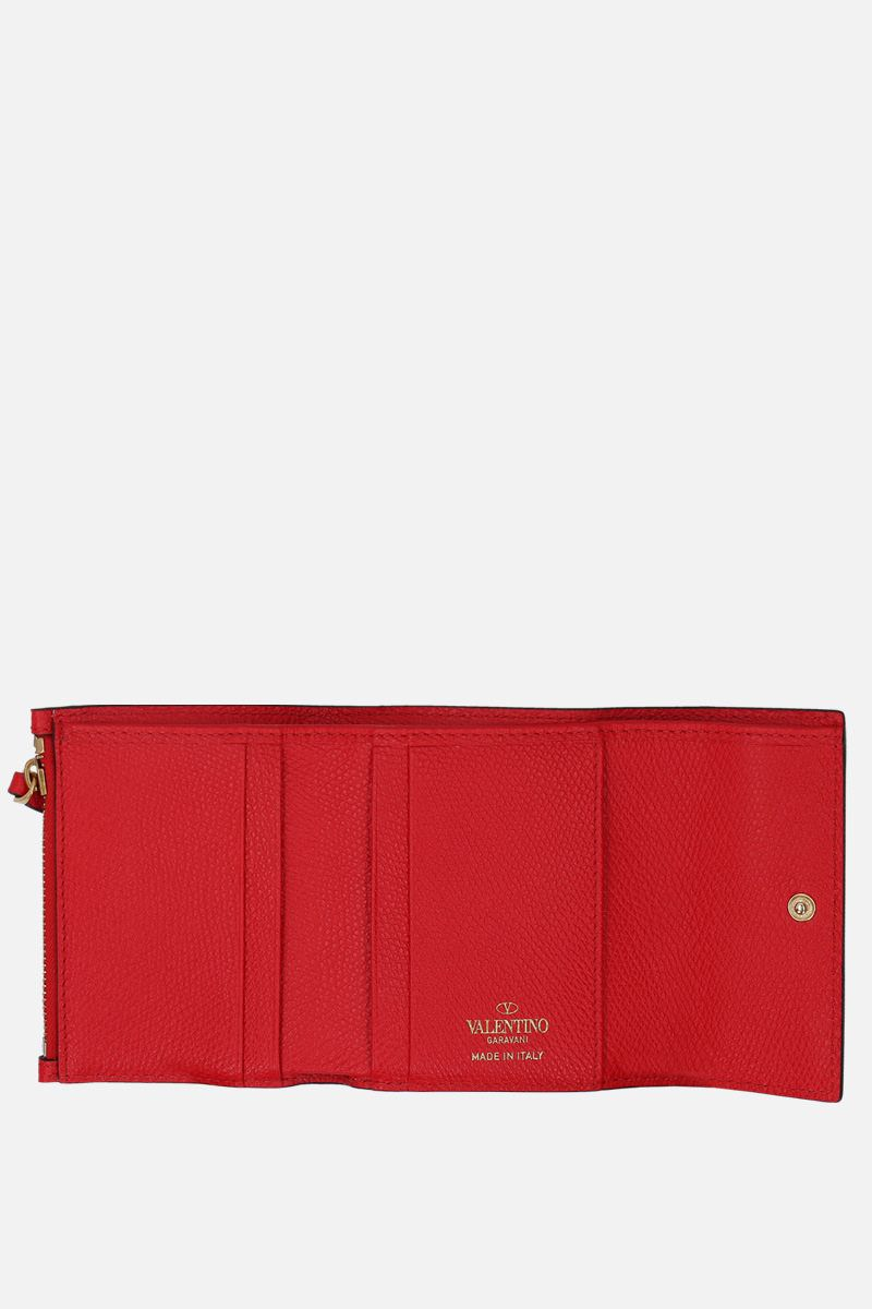 VALENTINO GARAVANI: VSLING grainy leather flap wallet Color Red_2