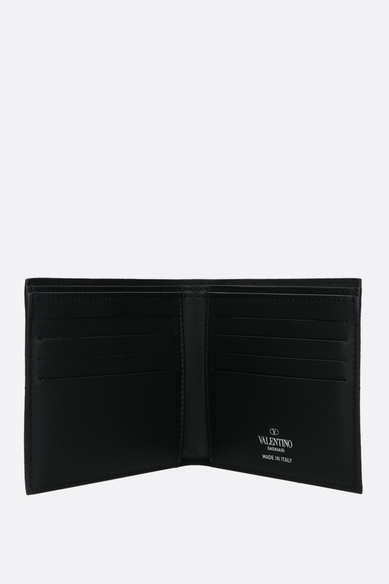 VALENTINO GARAVANI: VLTN TIMES smooth leather billfold wallet Color Black_2