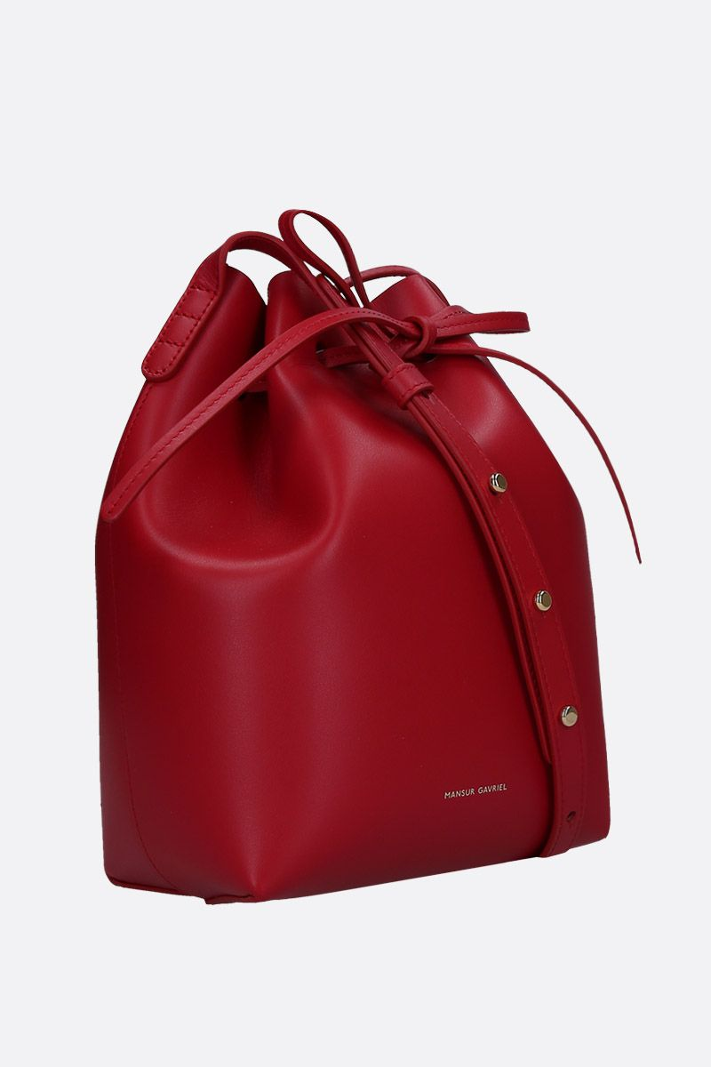MANSUR GAVRIEL: Bucket mini shoulder bag in smooth leather_2