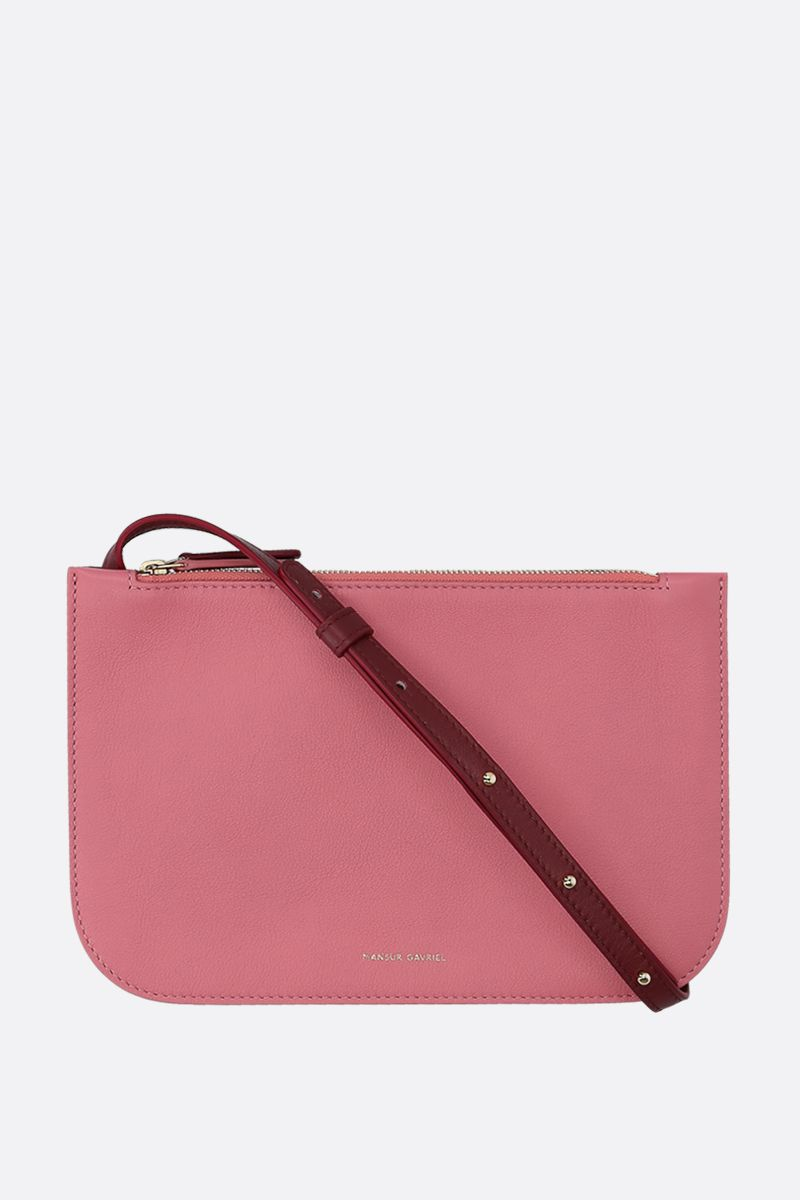 MANSUR GAVRIEL: grainy leather double crossbody bag_1