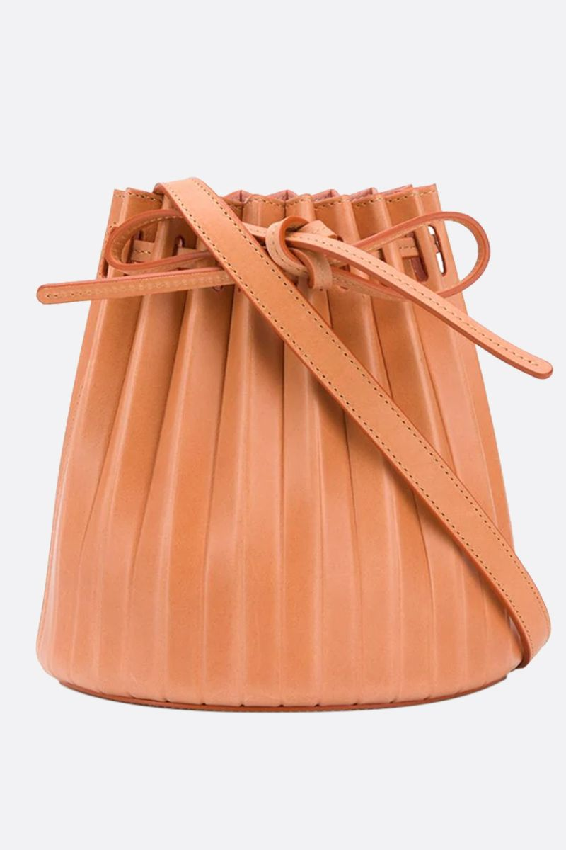 MANSUR GAVRIEL: borsa a spalla Bucket Pleated mini in pelle liscia Colore Multicolore_1
