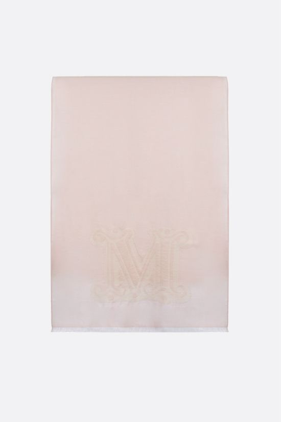 MAX MARA: Liuto2 wool silk blend stole Color Pink_1