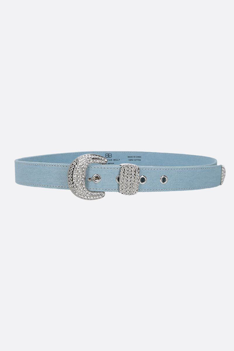 B-LOW THE BELT: Isabella denim belt Color Blue_1