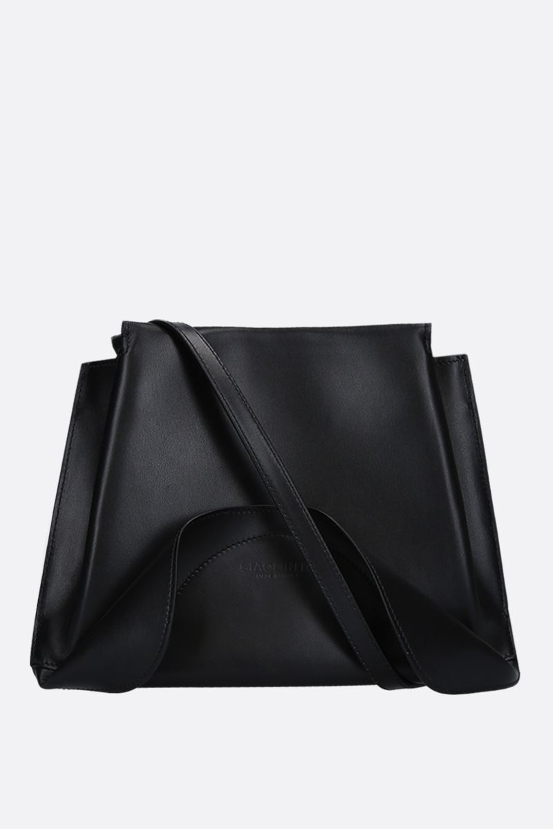 GIAQUINTO BAGS: Ashley crossbody bag in smooth leather Color Black_1