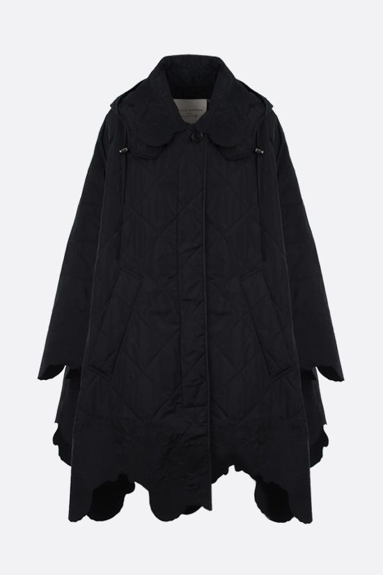 CECILIE BAHNSEN: Lake nylon padded cape Color Black_1