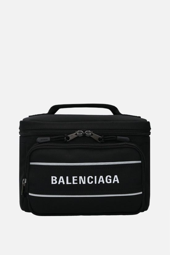 BALENCIAGA: recycled nylon sport camera bag Color Black_1