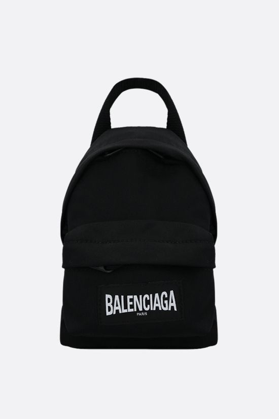BALENCIAGA: recycled nylon strap oversized backpack Color Black_1