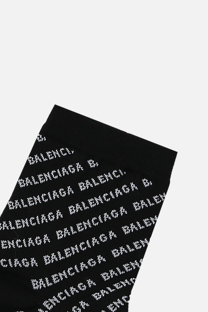 BALENCIAGA: logo-detailed cotton blend ankle socks Color Black_2