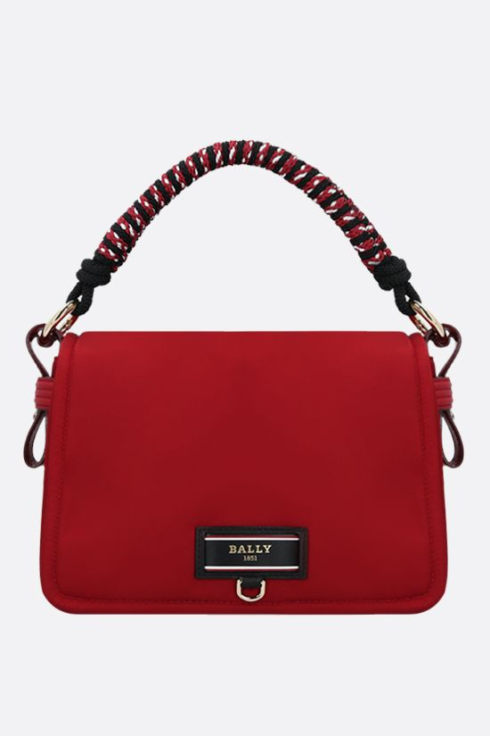 BALLY: Ekyra recycled nylon shoulder bag Color Red_1