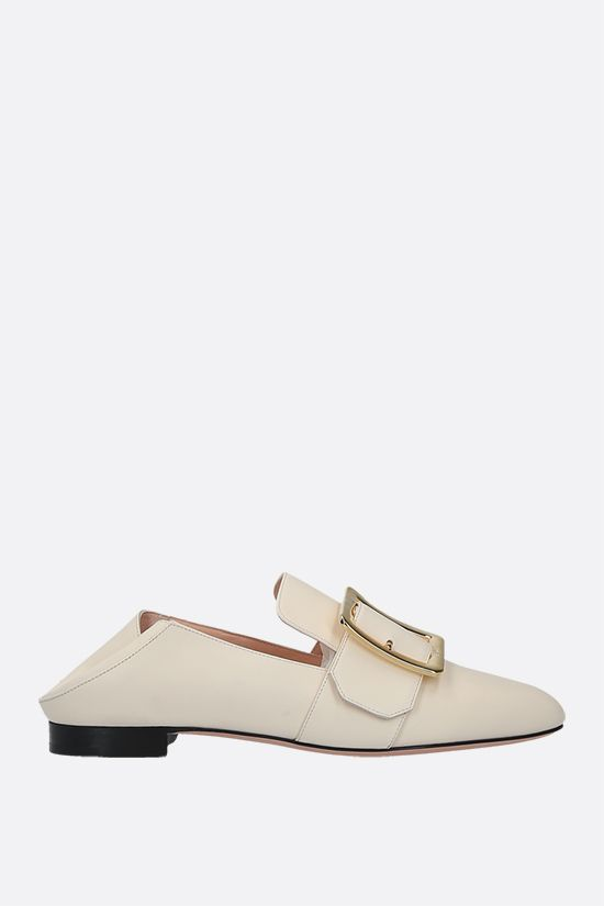 BALLY: Janelle smooth leather slippers Color Neutral_2