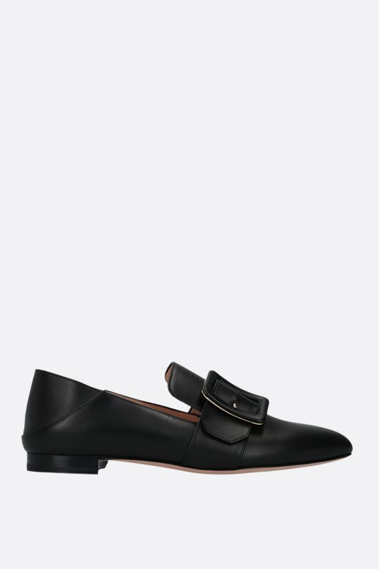 BALLY: Janelle smooth leather slippers Color Black_1
