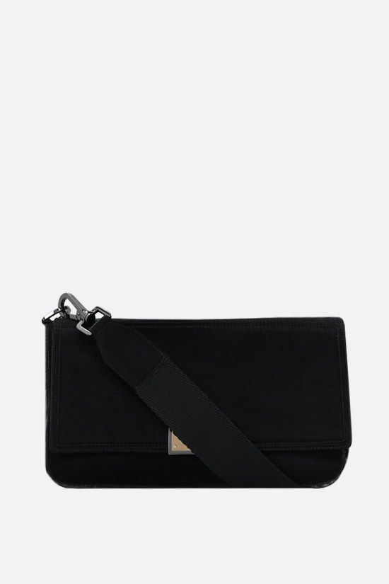 DOLCE & GABBANA: Nero Sicilia DNA shiny nylon crossbody bag Color Black_2