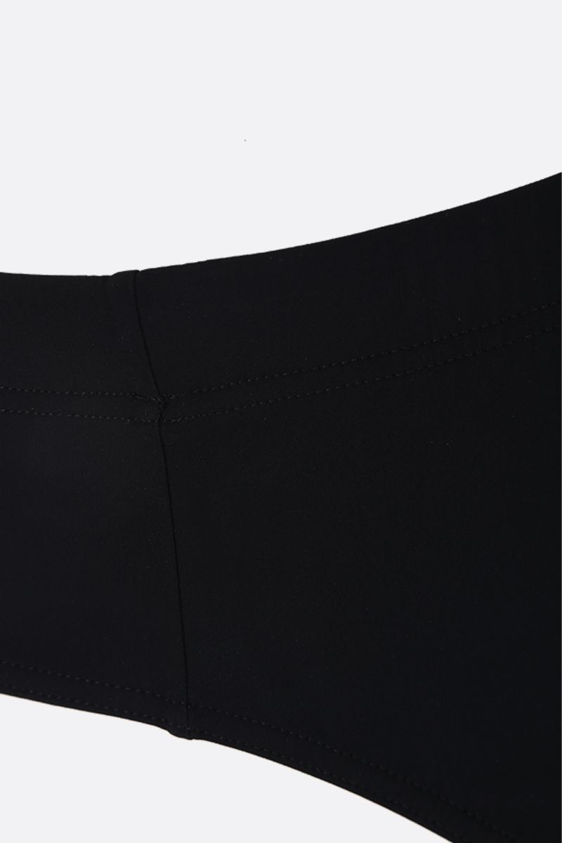 DOLCE & GABBANA: high-waisted nylon swim briefs Color Black_4