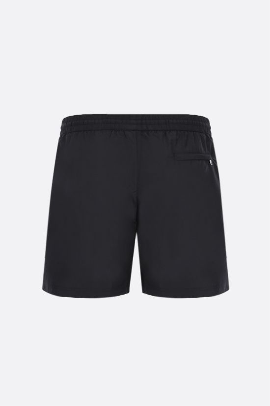 DOLCE & GABBANA: logo-detailed nylon swim shorts Color Black_2