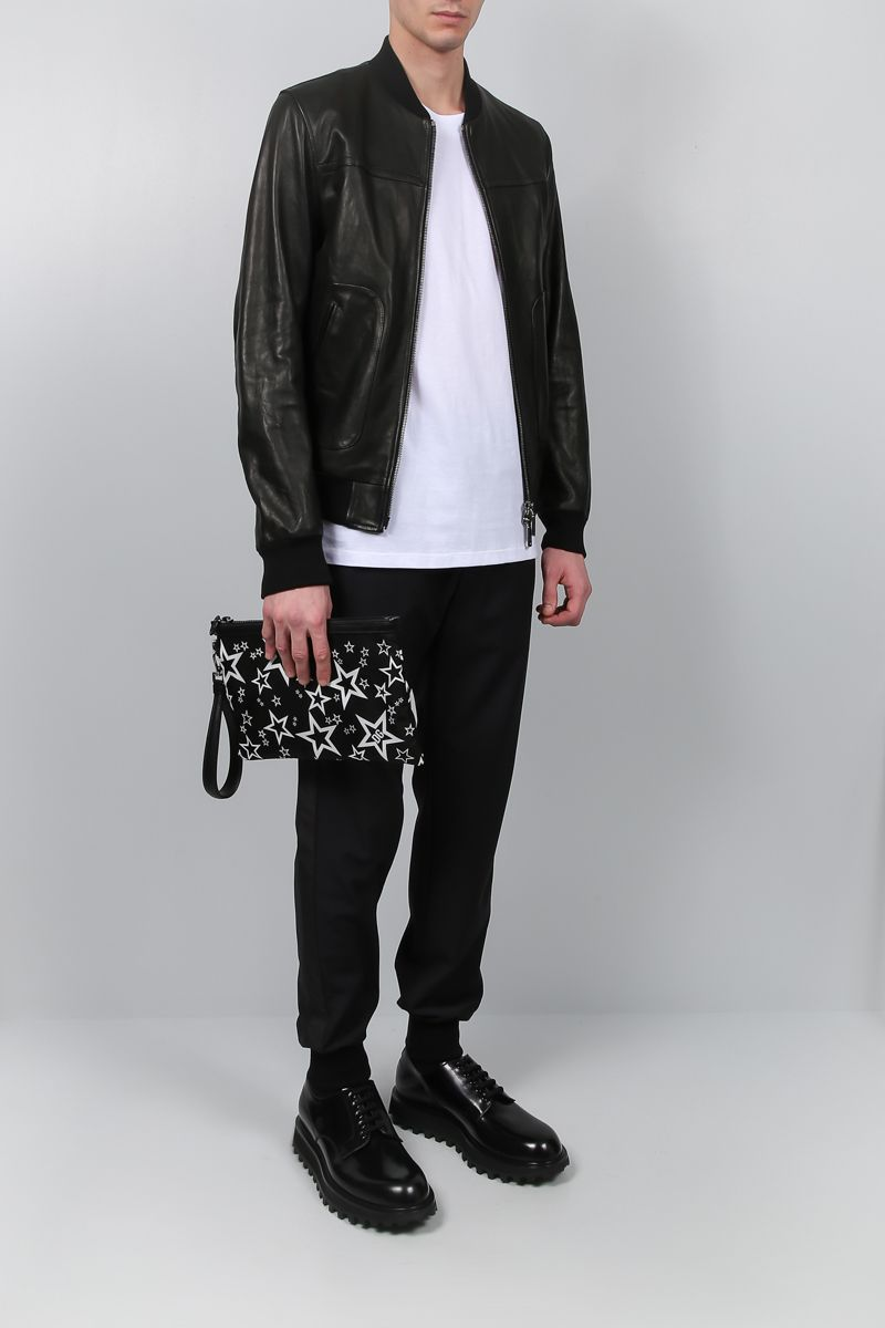 DOLCE & GABBANA: bomber jacket in soft nappa Color Black_2