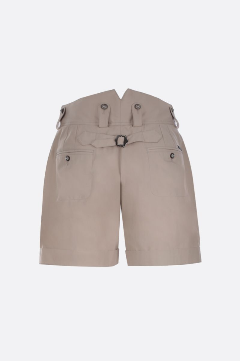 DOLCE & GABBANA: cotton cargo shorts Color Neutral_2