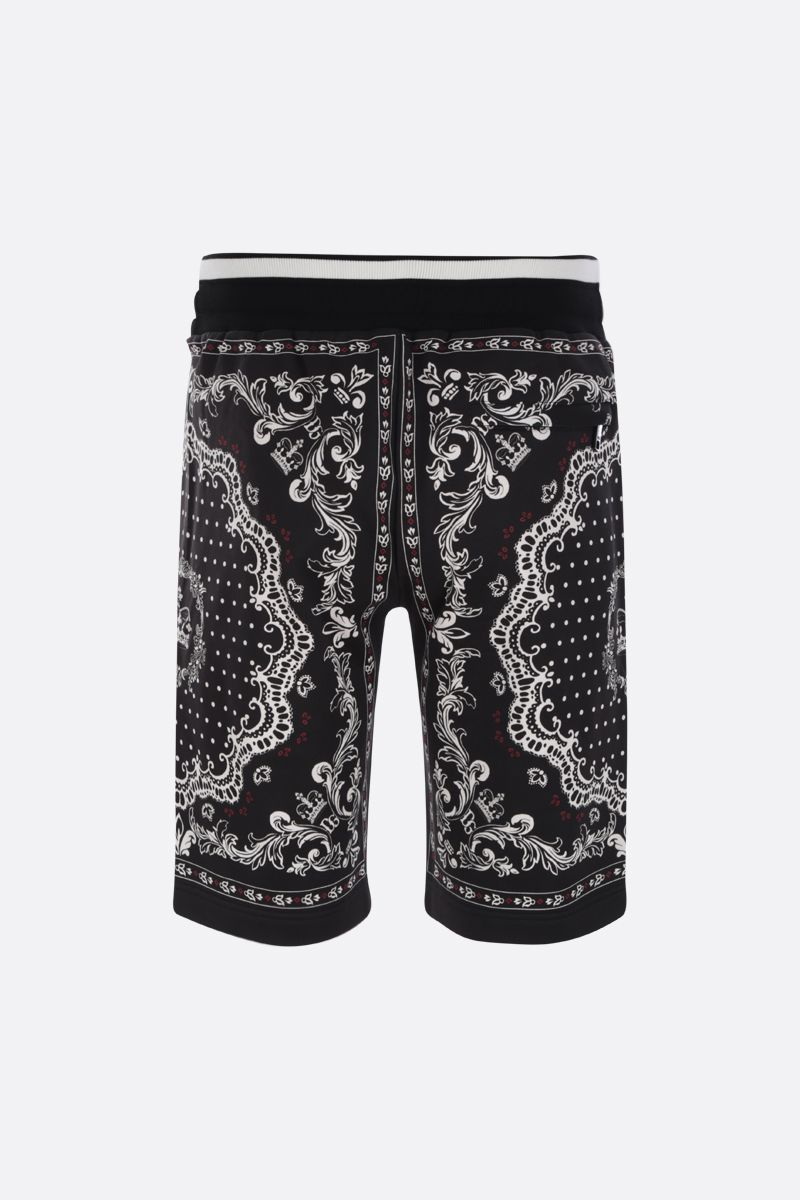 DOLCE & GABBANA: Bandana print cotton shorts Color Multicolor_2