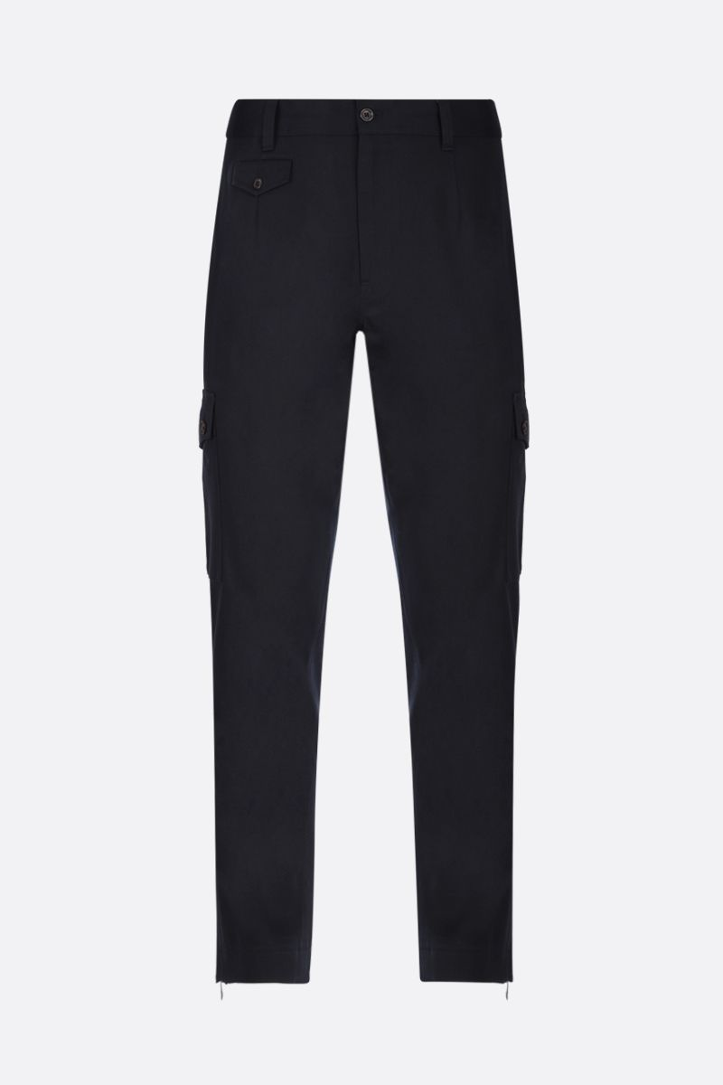 DOLCE & GABBANA: twill cargo pants Color Blue_1