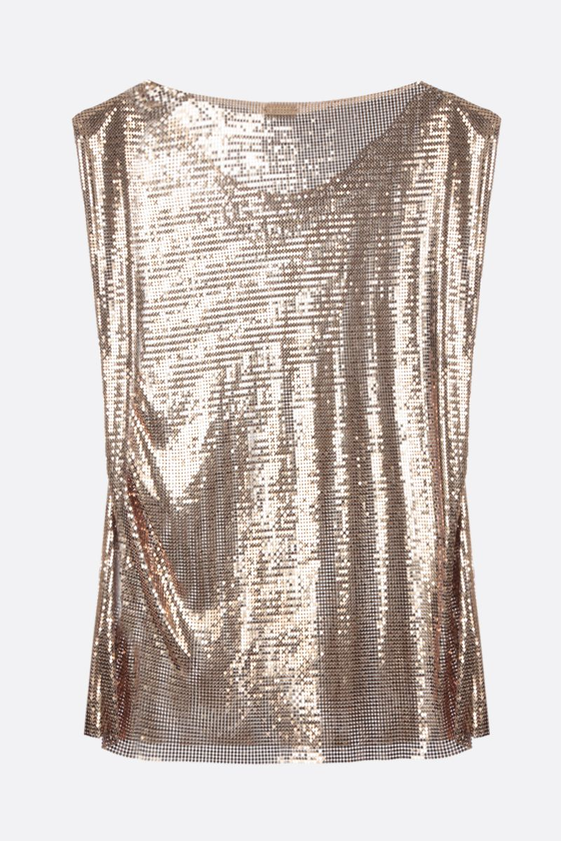 PACO RABANNE: metal mesh sleeveless top Color Gold_2