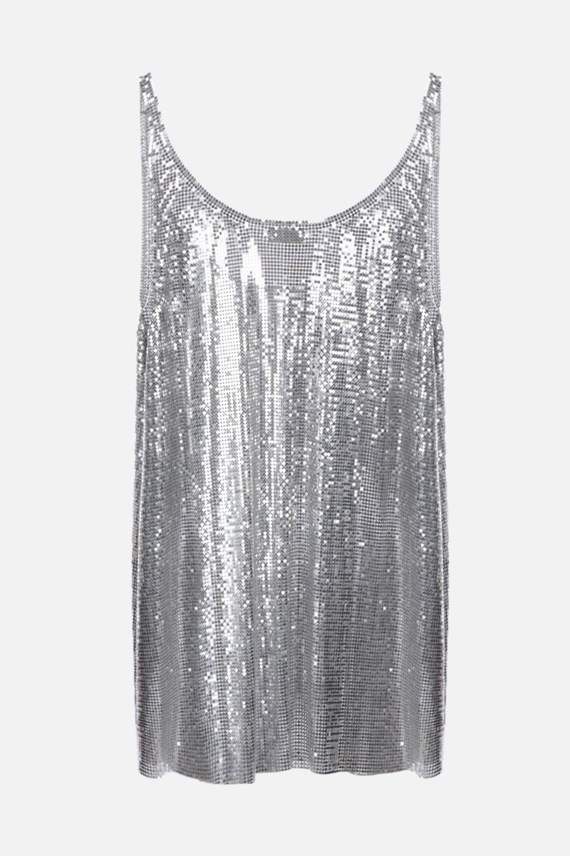 PACO RABANNE: metal mesh tank top Color Silver_2