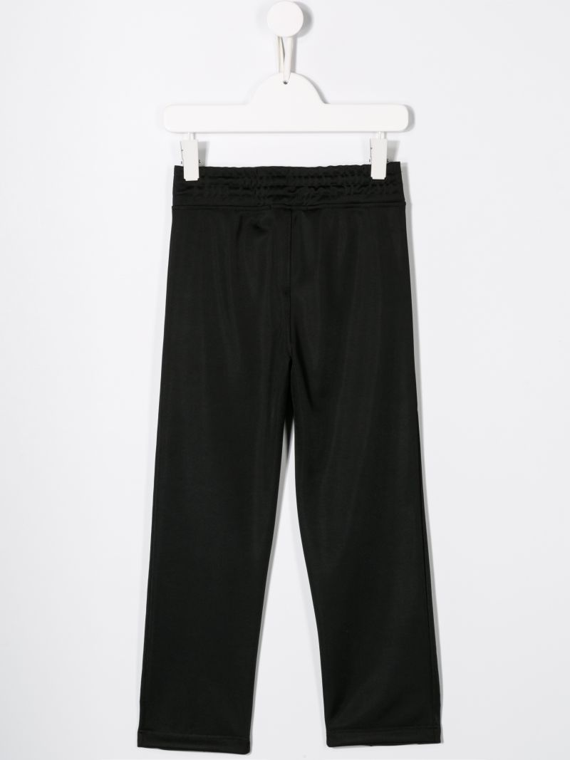 NEIL BARRETT KIDS: logo tape sweat joggers Color Black_2