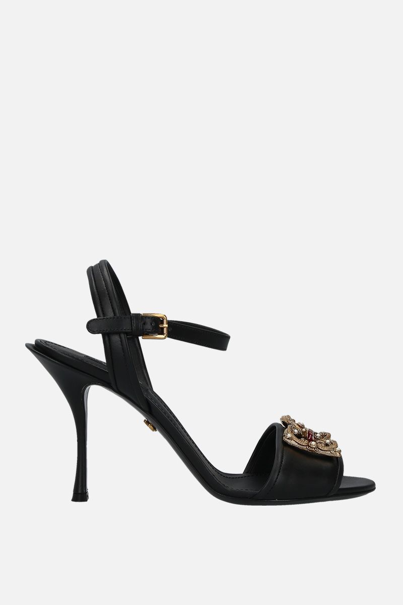 DOLCE & GABBANA: Keira sandals in smooth leather Color Black_1