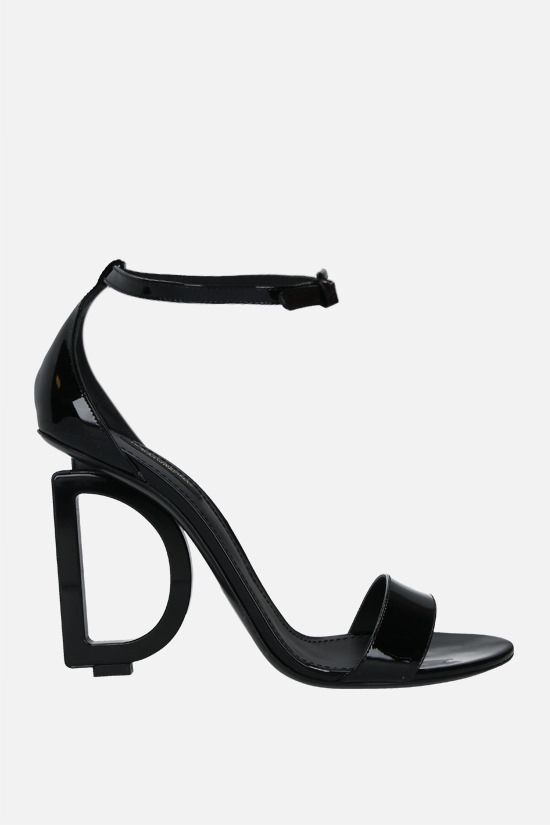 DOLCE & GABBANA: Keira patent leather sandals Color Black_1