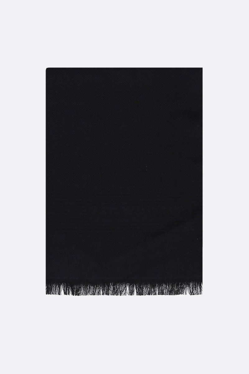 DOLCE & GABBANA: pure cashmere scarf Color Black_1