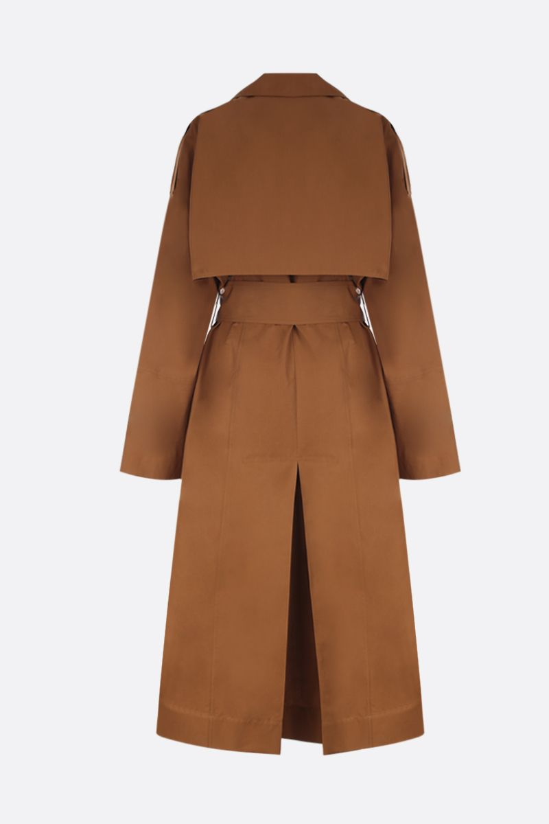 VICTORIA BECKHAM: technical cotton wrap trench coat Color Yellow_3