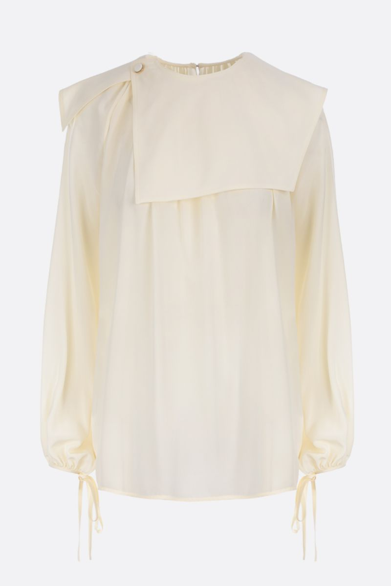 VICTORIA BECKHAM: crepe de chine blouse Color White_1