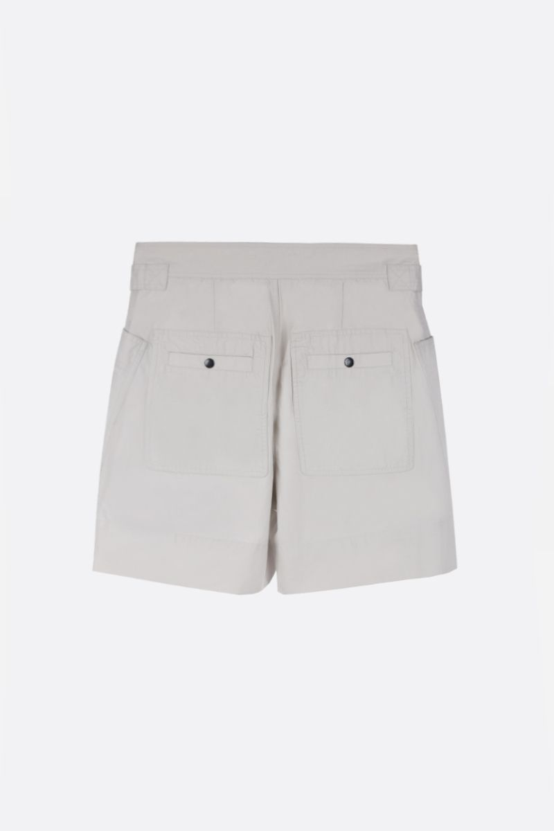 ISABEL MARANT ETOILE: Zayna cotton cargo shorts Color Neutral_2