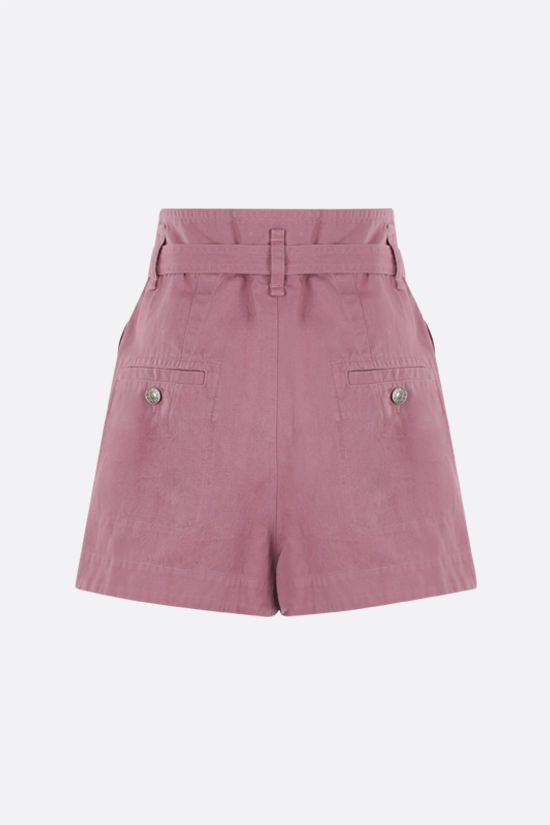 ISABEL MARANT ETOILE: Parana cotton linen blend shorts Color Pink_2