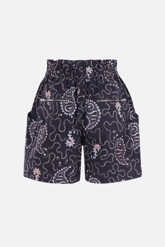 ISABEL MARANT ETOILE: Nawel cotton shorts Color Black_2